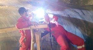 ترمیم پوشش بدنه رآکتور دولایه فولاد کربنی و تیتانیوم